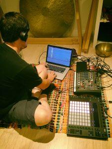 Producer hard at at work